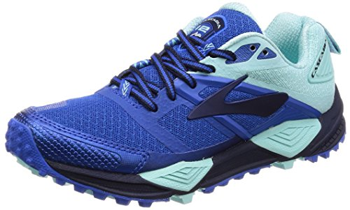 Brooks Damen Cascadia 12 Traillaufschuhe Blau (Navy/blue/mint 1b496)