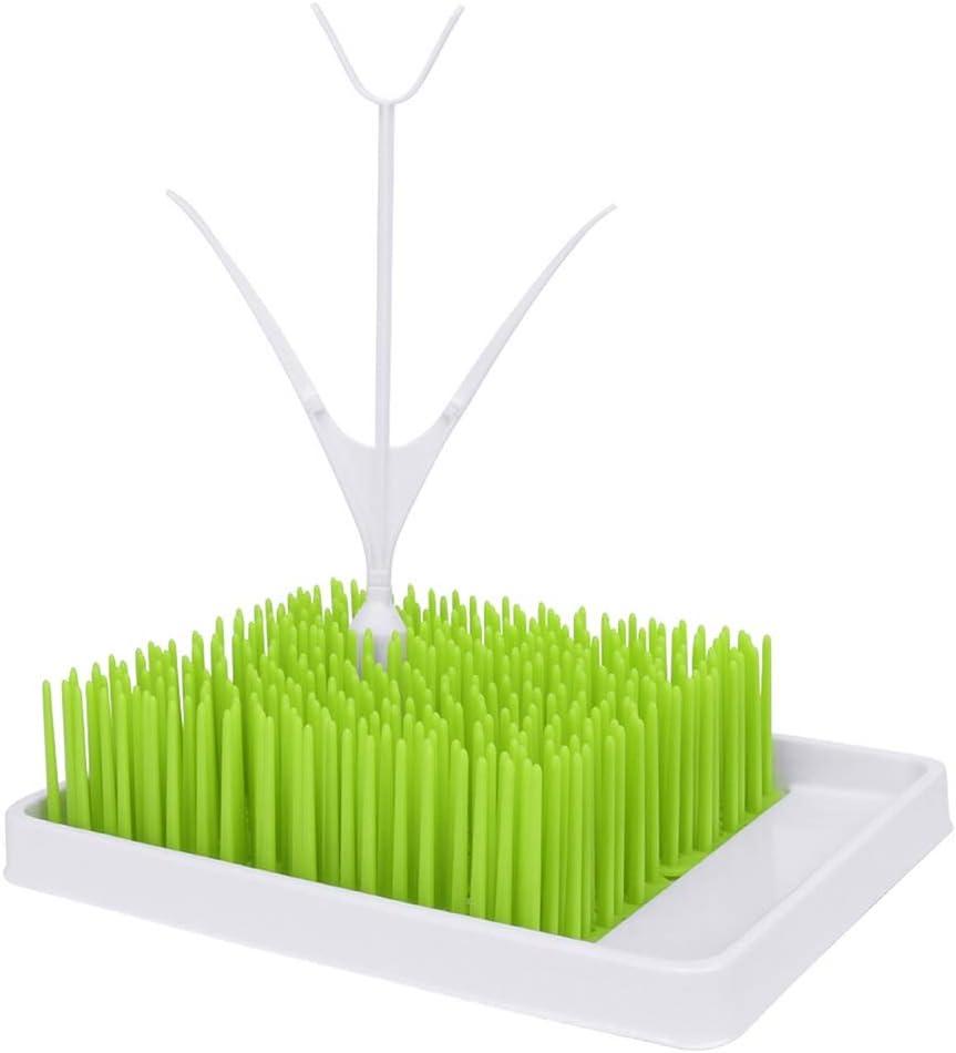 Linyuo Estante de Secado de biberones Biberones para beb/és Soporte para Colgar Anti-Bacterial Estante de Secado de Hierba Verde para encimera de Cocina