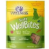 Wellness Soft Wellbites Natural Grain Free Dog Treats, Lamb & Salmon, 6-Ounce Bag