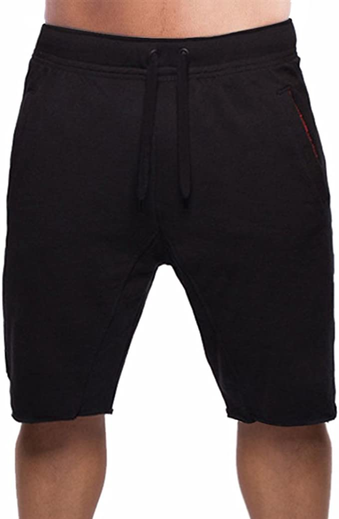 New Gym Summer Shorts Lycra Fleece Soft  Elasticated with 3 ZIp pockets Unisex