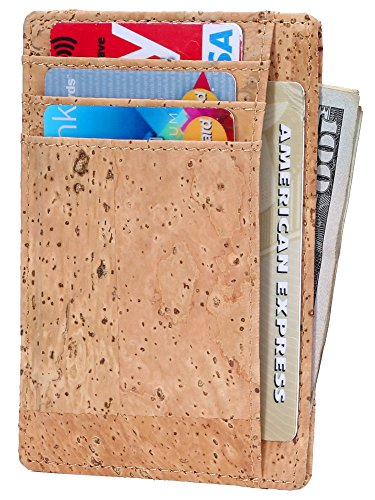 Cheap  Slim Wallet RFID Front Pocket Wallet Minimalist Secure Thin Credit Card Holder
