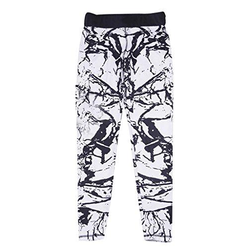Corte Yoga de blanco Leggings brand Mujeres Impresión Sharplace non Entallado Geométricos Estiramiento Compresión Calcetines w4XSqxxA