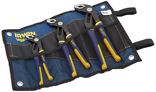 VISE-GRIP GrooveLock Pliers Set, 3-Piece with Kit Bag