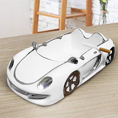 YOTATO Mens Porcelain Racing Car Model Ashtray Ceramics Roadster Miniature Tobacco Ash Receiver Handicraft Accessories