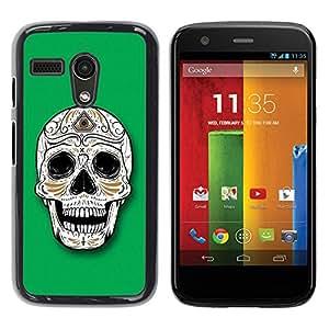 Be Good Phone Accessory // Dura Cáscara cubierta Protectora Caso Carcasa Funda de Protección para Motorola Moto G 1 1ST Gen I X1032 // Sugar Skull Illuminati