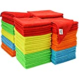 S & T ST 923801 Assorted Microfiber Cleaning Cloths, 100 Pack