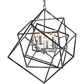 Y Decor Lz20812 6ch Modern Transitional Traditional 6 Light Square