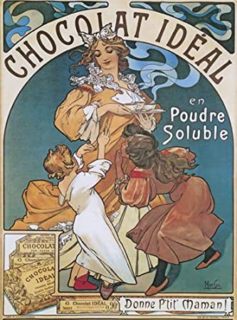 Chocolat Idéal, Alphonse Mucha, 1897 Mucha art, Alphonse