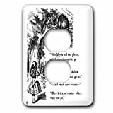 3dRose lsp_193784_6 Which Way Ought I Go From Here Chesire Cat Alice in Wonderland Quote Light Switch Cover
