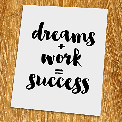 dreams-work-success-print-unframed-typography-print-scandinavian-wall-art-inspirational-quote-motiva