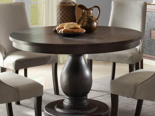 Captivating Dandelion Dining Table By Home Elegance In Rustic Brown Great Ideas