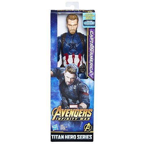 38e3ddc1fdc14 Marvel Infinity War Titan Hero Series Captain America with Titan Hero Power  FX Port