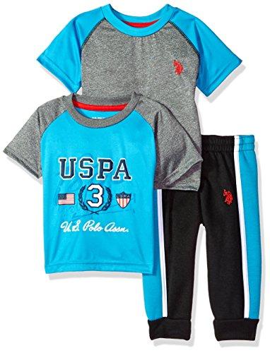 U.S. Polo Assn. Baby Boys T-Shirt and Pant 3 Piece Set