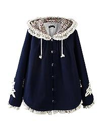 Partiss Women's Sweet Lolita Lace Hoodie Cloak