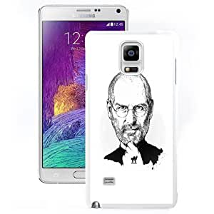 Durable Phone Case Steve Jobs Pencil Illustration Galaxy Note 4 Wallpaper in White
