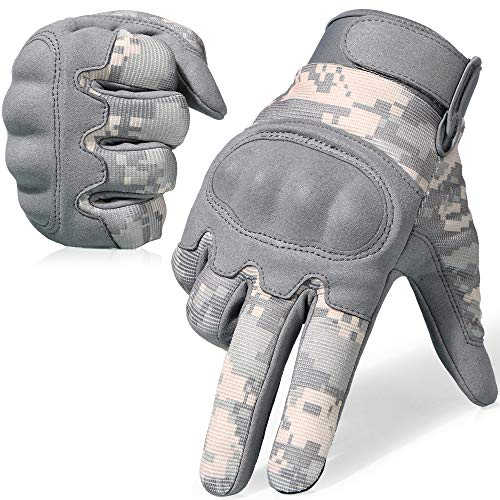 - WTACTFUL Camouflage Military Shooting Hard Knuckle Tactical Gloves for Airsoft Paintball Motorcycle Cycling Riding Hunting Hiking Army Combat Touch Screen Full Finger Gloves Size ACU Medium B16