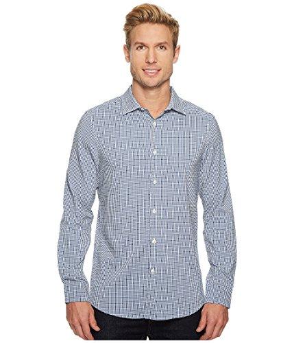 Perry Ellis Button Down Dress Shirt (Perry Ellis Men's Mini Check Total Stretch Dress Shirt, Bright Sapphire, Extra Large)