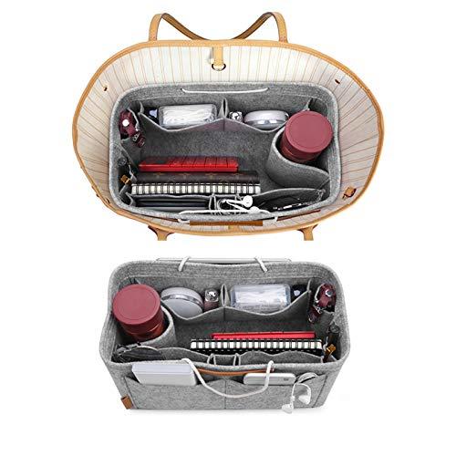 Organizer Bag Fits Purse Handbag amp; Neverfull Speedy Insert Bag Mercurys Tote for Bag in Purse Grey Felt Organizer M w6qxOHX