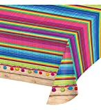 Mozlly Multipack - Creative Converting Serape Banquet Plastic Table Cover - Fiesta Theme Events - 54 x 102 inch - Party Supplies and Decorations (Pack of 3)
