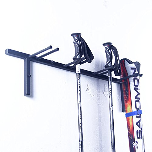 AZZAP Skihalter für 4 Paare Ski Skiträger Skistöcke Nordic Walking Stöcke Wandhalter N3