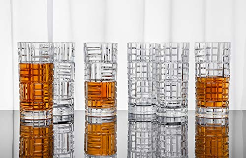 Highball Glasses Tall Bar Glass Set - Drink Glassware for Wine, Whiskey, Water, Juice, Beer and Cocktails - 11oz, Set of 6 (Set Crystal Glass Highball)