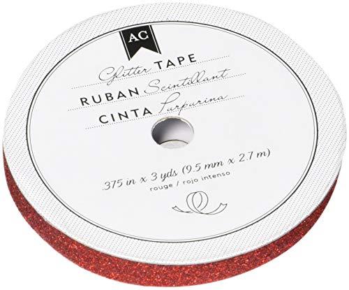 American Crafts Glitter Tape, Rouge, 3/8-Inch
