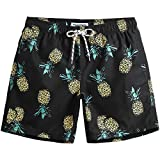 MaaMgic Mens Quick Dry Pineapple Swim Trunks With
