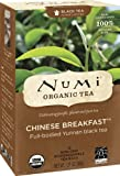 Numi Organic Tea Chinese Breakfast, Full Leaf Black Tea, 18 Count Tea Bags (Pack of 3)