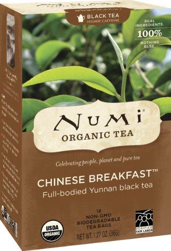 Numi Organic Tea Chinese Breakfast, Full Leaf Tea Bags, 18 Count