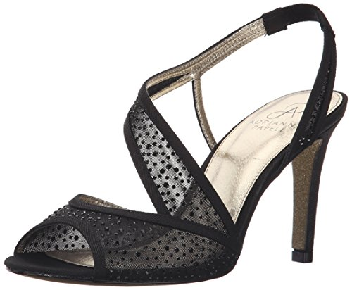 Adrianna Papell Women's Andie Dress Sandal, Black, 8 M US