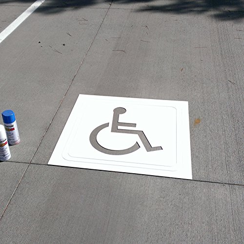 "Fantastic Displays 30"" Handicap Parking Lot Stencil 2mm P..."