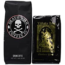 Death Wish Coffee & Valhalla Java Bundle, Fair Trade and USDA Certified Organic, Ground Coffee