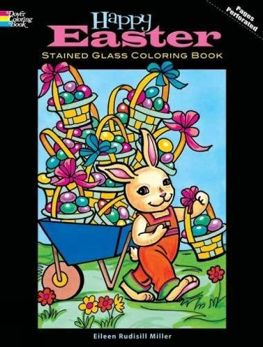 Read Online Happy Easter Stained Glass Coloring Book (Holiday Stained Glass Coloring Book) pdf epub