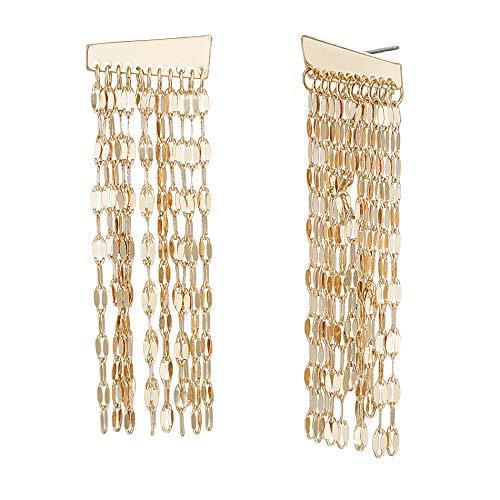 Steve Madden Dangle Bar Drop Earrings Gold One Size
