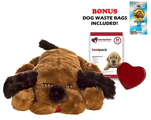 Smart Pet Love Brown Snuggle Puppy Heartbeat Pillow for D...