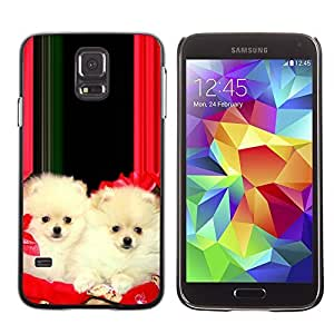 YOYO Slim PC / Aluminium Case Cover Armor Shell Portection //Christmas Holiday Cute Holiday Dog Puppy 1186 //Samsung Galaxy S5