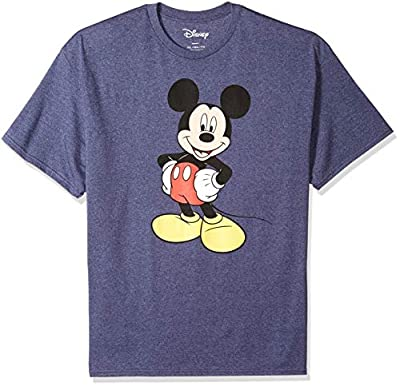 Disney Men's Classic Mickey Mouse Full Size Graphic Short Sleeve T-Shirt