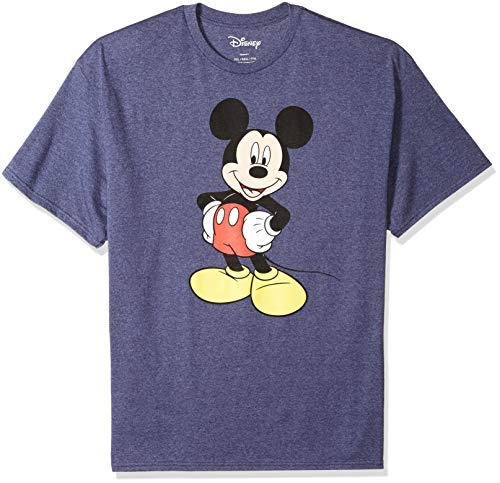 - Disney Mickey Mouse Men's Mickey Wash Short Sleeve T-Shirt, Navy Heather, Large