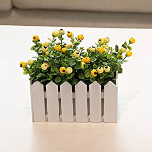 Emulation flower artificial flowers berries blueberries acacia fruit yew wood fence with packaged floral an idyllic natural wild 60