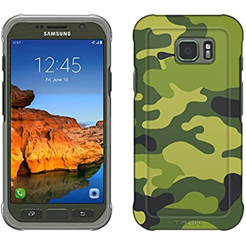 Samsung Galaxy S7 Active Case, Snap On Cover by Trek Camouflage Green Yellow Slim Case Sales