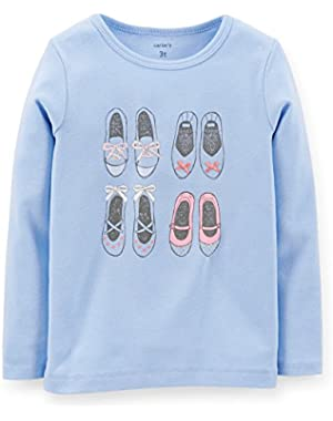 Baby Girl Long Sleeve T-shirt 6 Months; Purple with Shoes