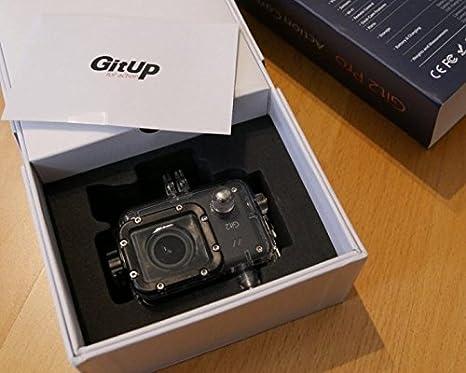 Androgeek GitUp Git2 - Cámara deportiva, 2K, 30 FPS, sensor Sony IMX206 CMOS, Novatek 96660, Wi-Fi, con 10 accesorios, pantalla LCD de 1,5