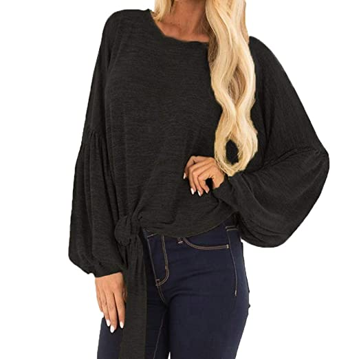 Keliay Clearance Sale,Women Casual Lace Color Blockr Long Sleeve O-Neck T Shirts