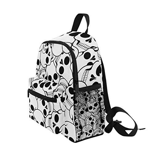 Black nbsp;Girls nbsp;Toddler nbsp;Backpack White nbsp;Book Kids and nbsp;Bag Skull nbsp;School Boys ZZKKO nbsp;for dq7TBd