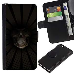 UNIQCASE - Apple Iphone 6 4.7 - Grim Reaper Death Close Up - Cuero PU Delgado caso cubierta Shell Armor Funda Case Cover