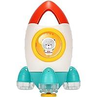 TOYANDONA Baby Bath Toys Rocket Spray Bathing Tub Toys Baby Water Toys Interactive Bathtub Time Fun Toys for Toddlers Boys Girls Bathtub Swimming Pool