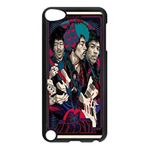 Custom Case Guitar player jimi hendrix poster phone Case Cove FOR Ipod Touch 5 JWH9217522