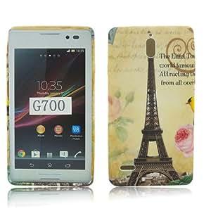 Huawei Ascend G700 TPU SILICON PARIS LA TOUR EIFFEL TOWER Design protection phone case funda bag caso thematys®