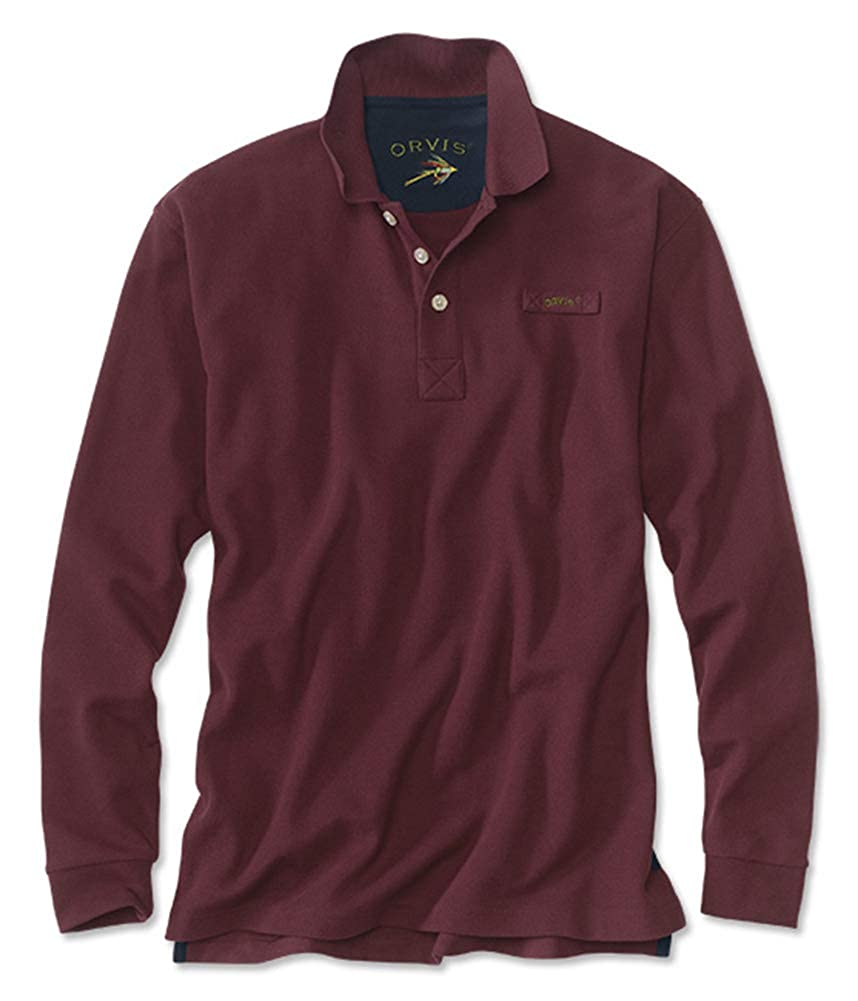 Orvis Mens The Long-Sleeved Signature Polo//Tall