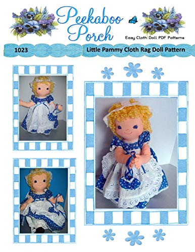 Little Pammy Rag Doll Easy Cloth Doll PDF Sewing Pattern for Beginners by Peekaboo Porch - PATTERN ONLY - Not a Finished Doll ()